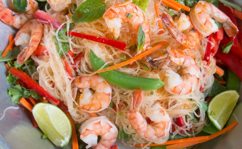 Thai Massaman Curry Noodle Salad