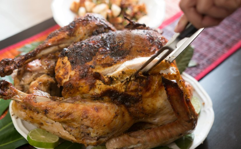 Buttermilk brined Mustard Turkey