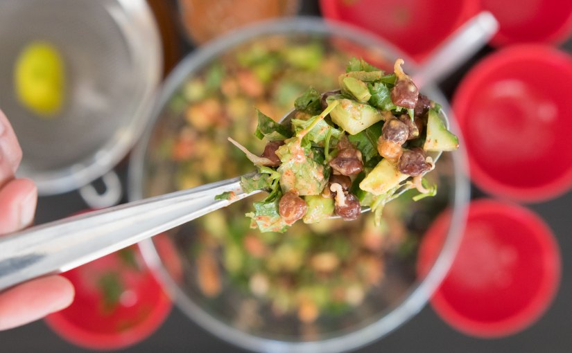 Sprouted Garbanzo Bean Salad
