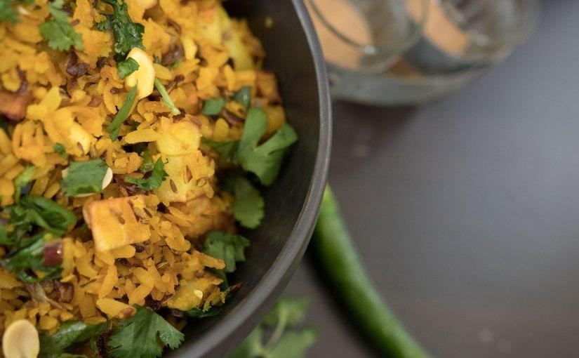 Aloo Poha – Spicy & Potato Flat Rice