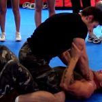 Full mount choke defense demonstration
