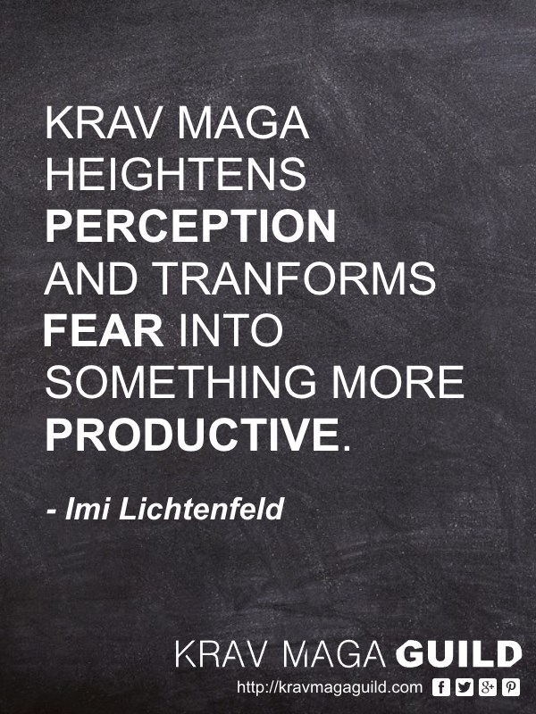krav maga quote fear into something more productive