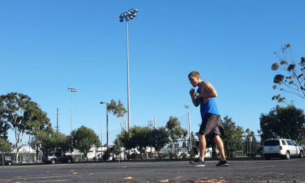 Shadow boxing footwork and cardio