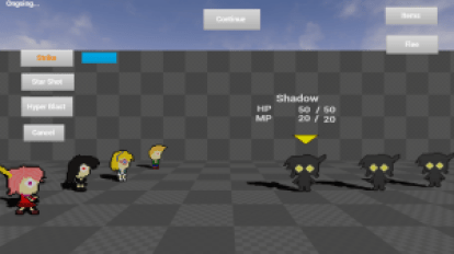 The new turn-based combat system.
