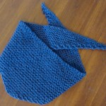wide triangle scarf in blue