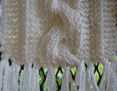 Bulky Reversible Cable Braid Scarf