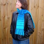 Fabulous Fibonacci Double-Knit Scarf Pattern