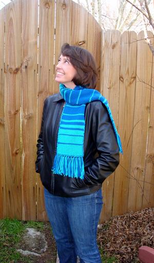 fibonacci double knit scarf pattern 1