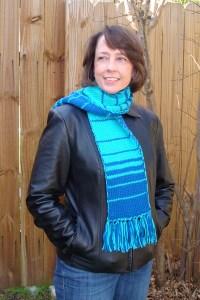 fibonacci double knit scarf pattern 2