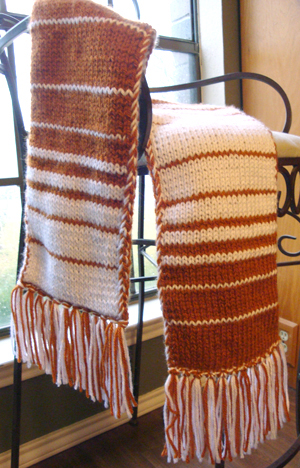 team colors double knit stripes scarf