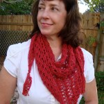 Blogathon Lace Triangle Scarf