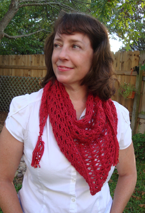blogathon lace triangle scarf knit pattern