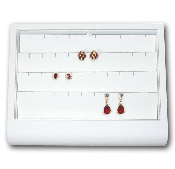 Fancy Leatherette Earring Tray