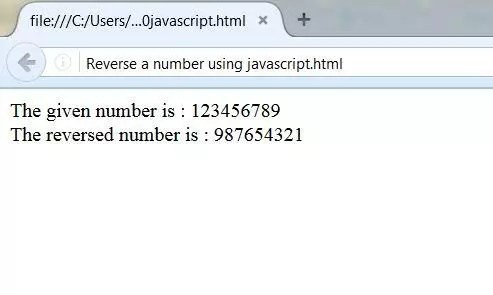 Javascript To Reverse A Given Number Palindrome Program