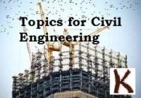 Presentation Topics for Civil Engineering