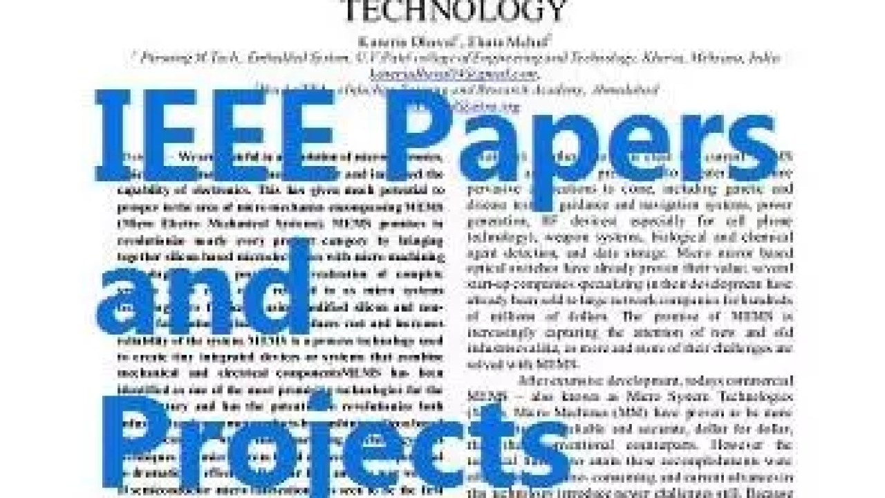 IEEE Papers and Project topics - Krazytech