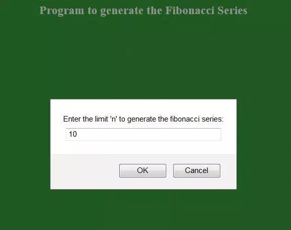 code to generate Fibonacci numbers using Javascript