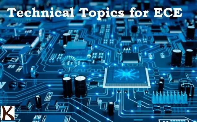 Technical Paper Presentation Topics For Electronics