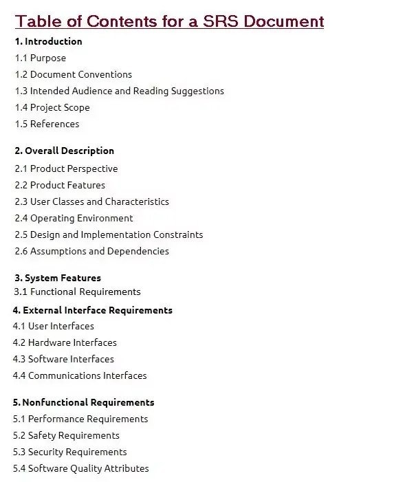 Software Requirements Specification document with example - Krazytech