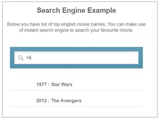 Search Engine example using AngularJS