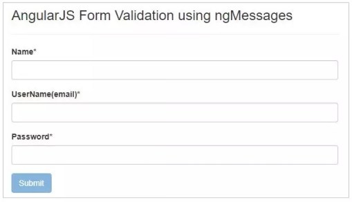Form Validation in AngularJS with ngMessages