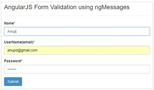 Form Validation in AngularJS