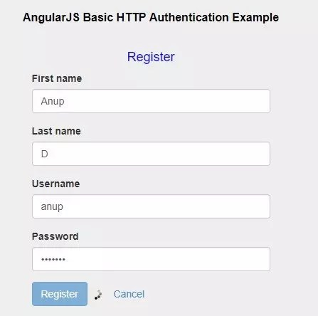 Combined Login and Registration Application in AngularJS - Krazytech