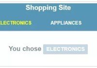 Shopping site menu example in AngularJS