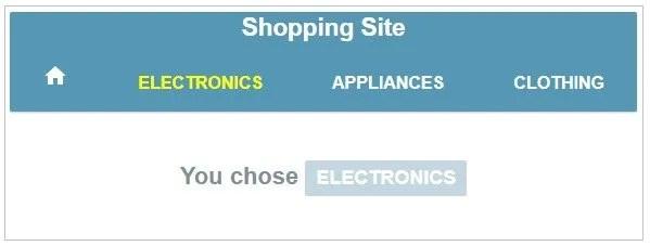 Shopping site menu example in AngularJS