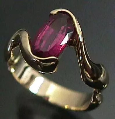 Garnet ring in digital jewelry