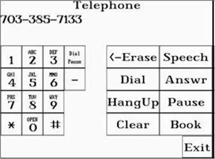 Telephone program in the eyegaze system