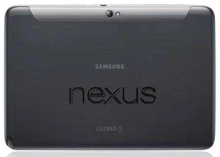 Samsung Google NEXUS 10 rear view