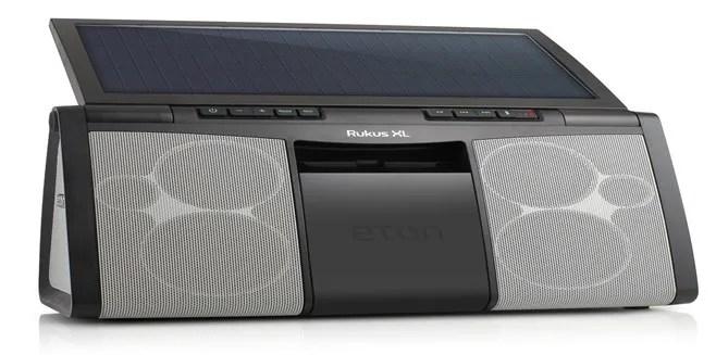 Solar powered speaker - Eton Rugged Rukus XL Sound System