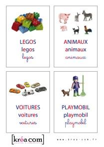 etiquettes pour boites a jouets. Garcon - Méthode montessori