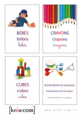 étiquettes pour boites a jouets. Méthode Montessori