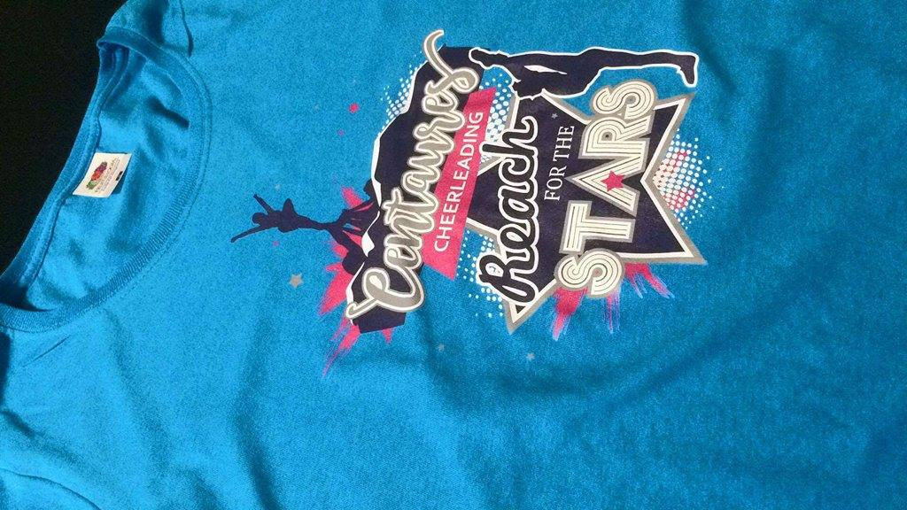 decoration tee shirt cheerleading Centaures grenoble