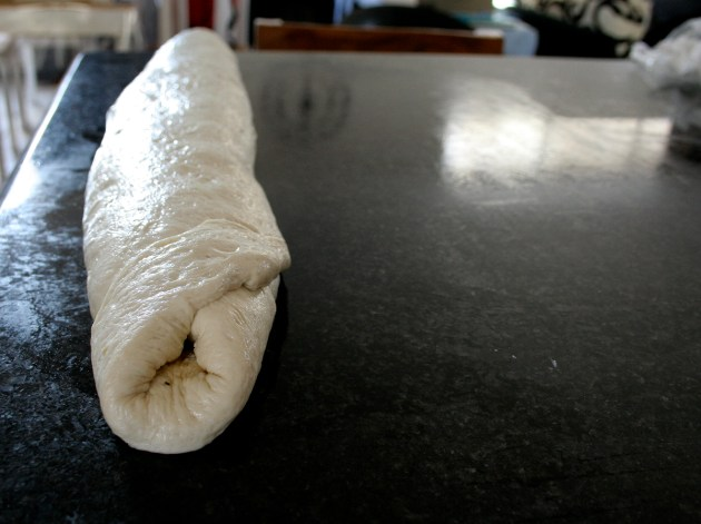 Rolled Up Bread Dough
