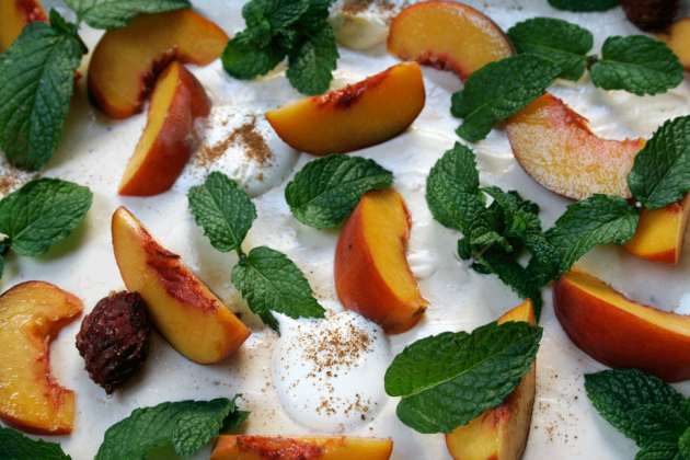 Peach Cheesecake Zoomed In
