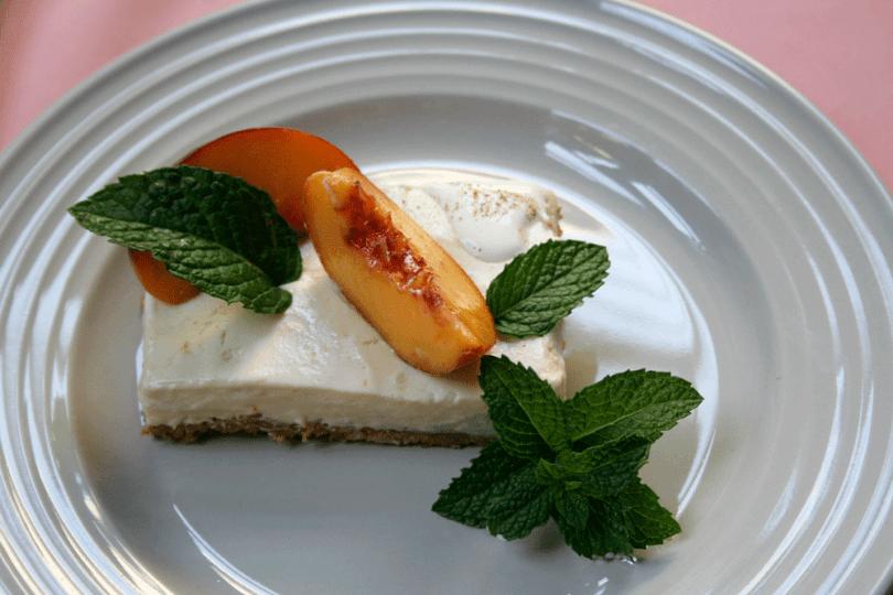 Peach Cheesecake Slice