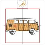 Redwork with a Twist Camper Van