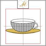 Redwork with a Twist Tea cup