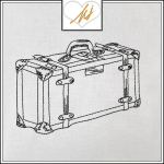 Redwork Suitcase