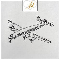 Redwork Airplane
