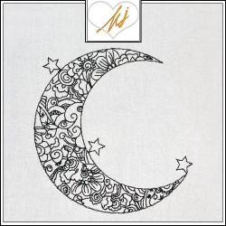 Redwork Moon