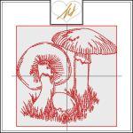 Redwork Mushroom