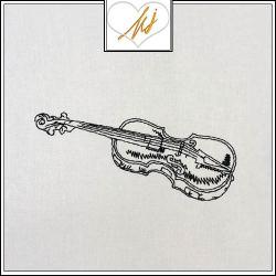 Redwork Violin