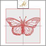 Freebie Friday Redwork Butterfly
