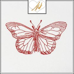 Freebie Friday Redwork Butterfly