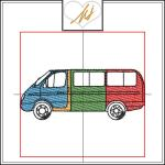 Redwork with a Twist Mini Bus