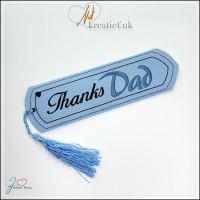 Freebie Friday Thanks Dad Bookmark